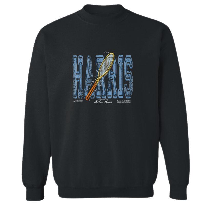 Tennis-Harris Crewneck Sweatshirt BLACK