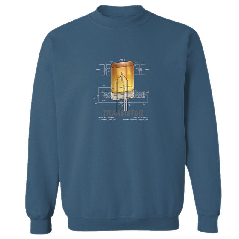 Transistor Crewneck Sweatshirt INDIGO BLUE