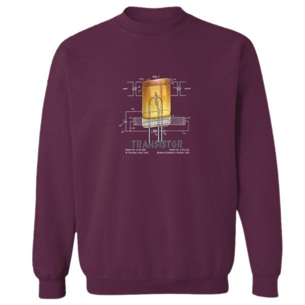 Transistor Crewneck Sweatshirt MAROON