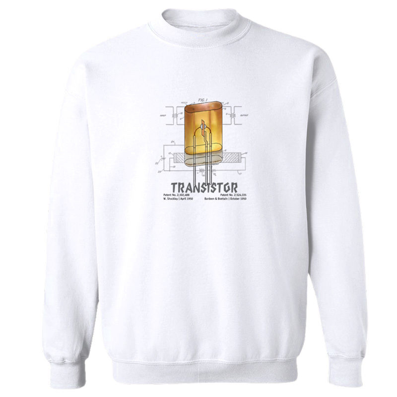 Transistor Crewneck Sweatshirt WHITE