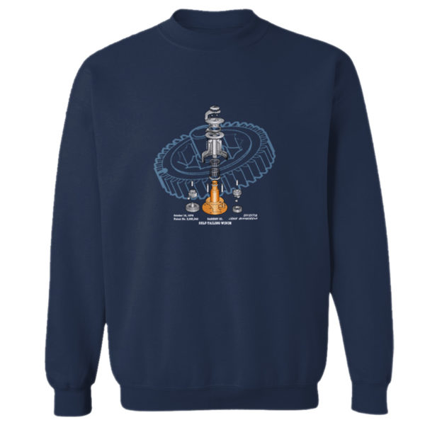 Winch Blowup Crewneck Sweatshirt NAVY