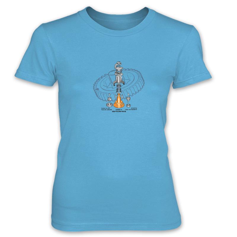 Winch Blowup Women's T-Shirt CARIBBEAN BLUE