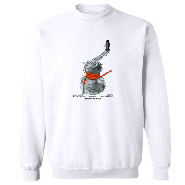 Winch Crewneck Sweatshirt WHITE