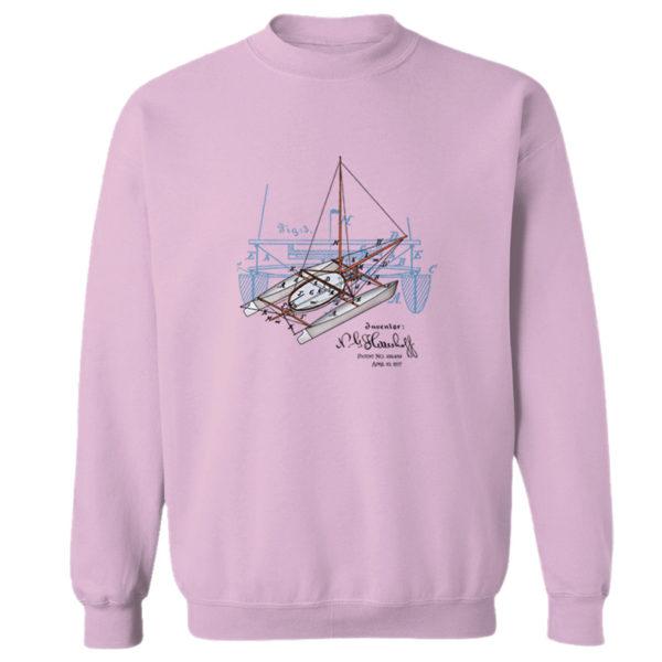 Herreshoff Catamaran Crewneck Sweatshirt ILIGHT PINK
