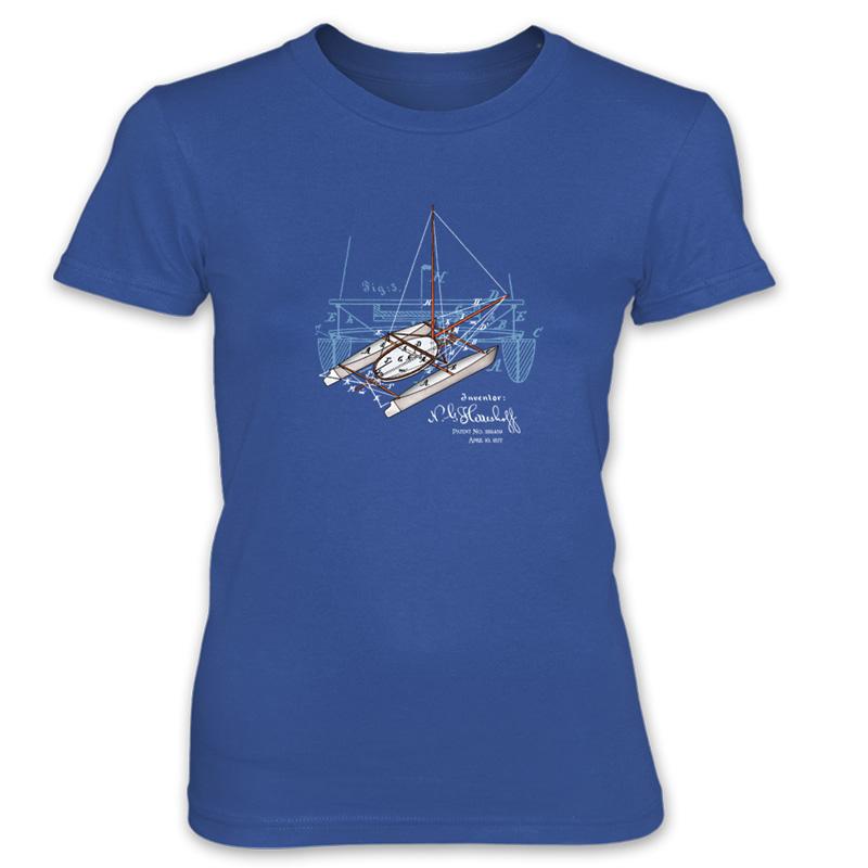 Herreshoff Catamaran Women's T-Shirt ROYAL BLUE