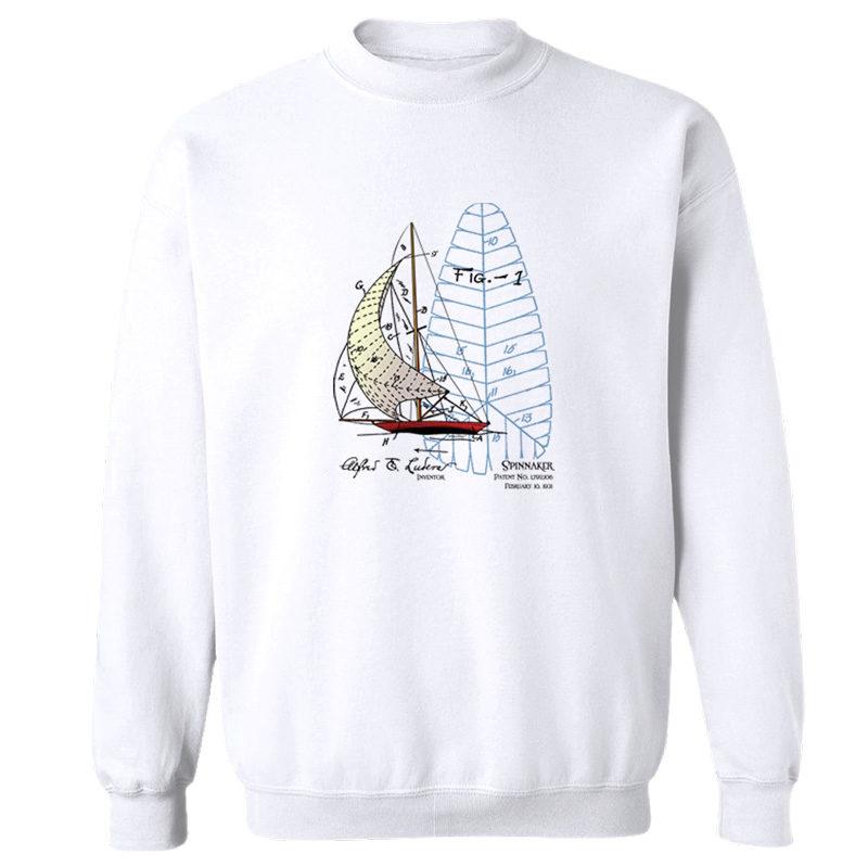 Spinnaker Crewneck Sweatshirt WHITE