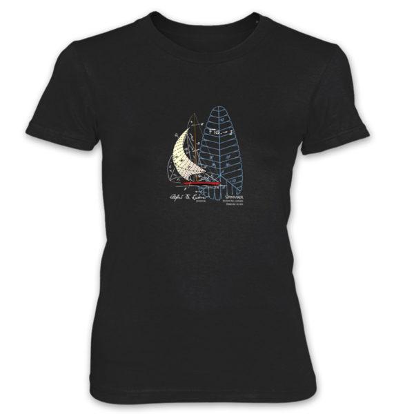 Spinnaker Women's T-Shirt BLACK