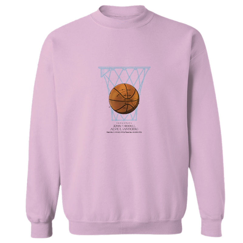 Basketball Crewneck Sweatshirt LIGHT PINK