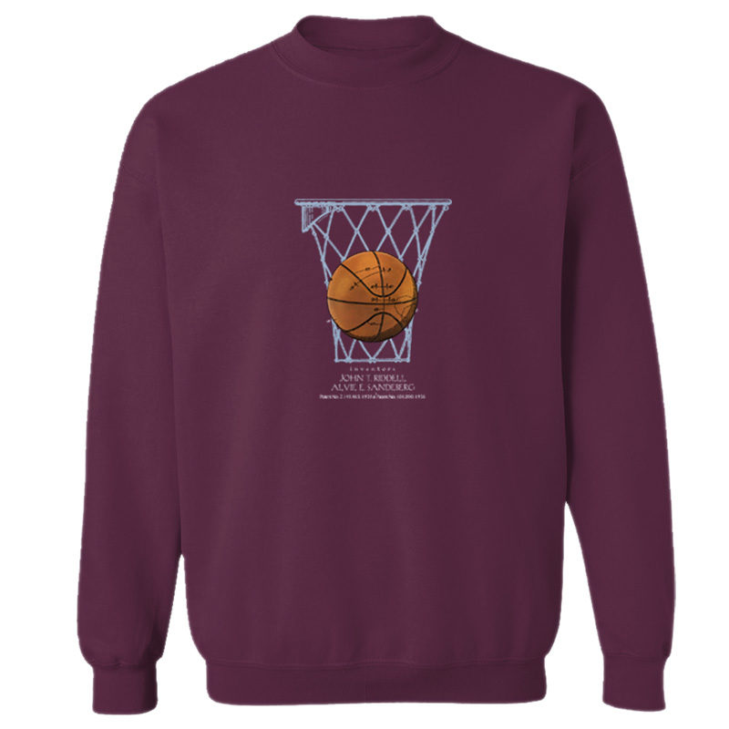 Basketball Crewneck Sweatshirt MAROON