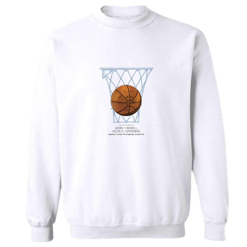 Basketball Crewneck Sweatshirt WHITE