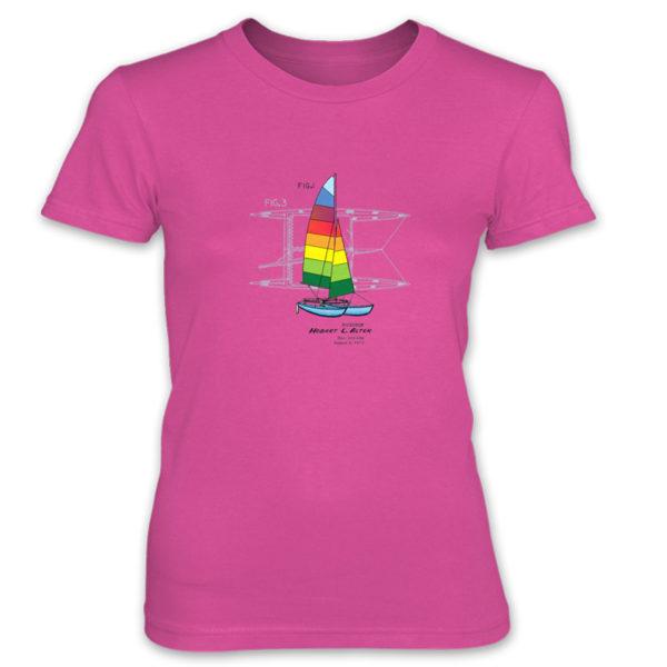 Hobie Cat Women's T-Shirt HOT PINK