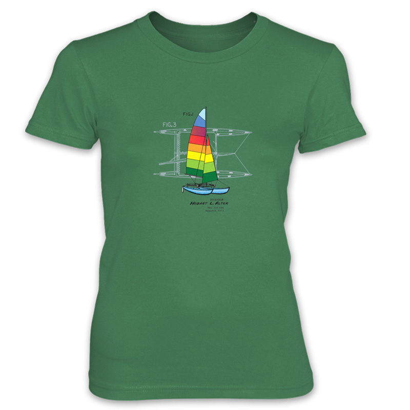 Hobie Cat Women's T-Shirt KELL GREEN