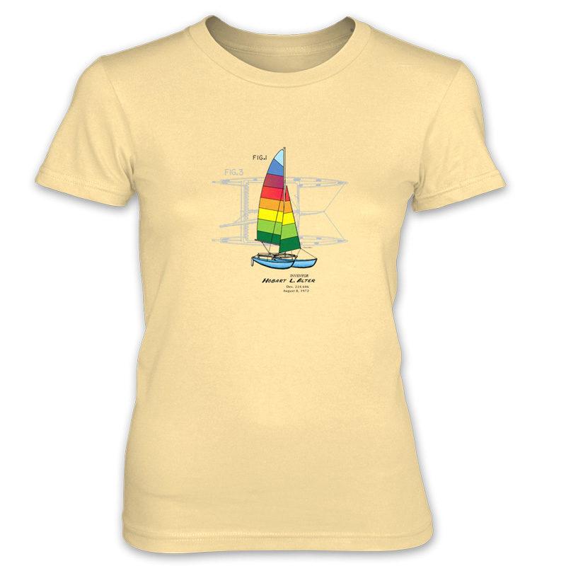 Hobie Cat Women's T-Shirt SPRING YELLOW