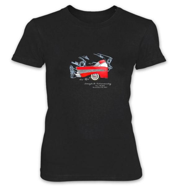 57 Chevy Women's T-Shirt BLACK
