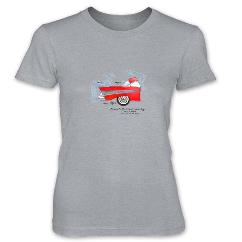 57 Chevy Women's T-Shirt HEATHER GREY