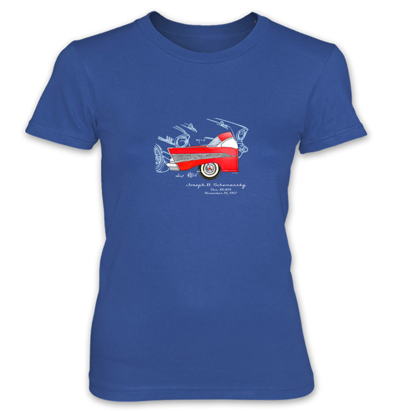 57 Chevy Women's T-Shirt ROYAL BLUE