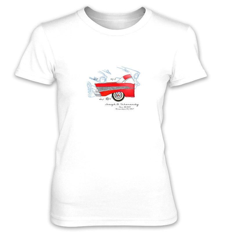 57 Chevy Women's T-Shirt WHITE