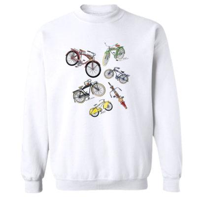 Bicycles MS-Color Crewneck Sweatshirt WHITE