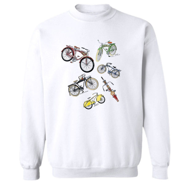 Bicycles MS-Color Crewneck Sweatshirt WHITE