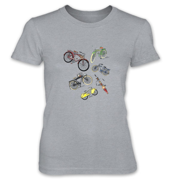 Bicycles MS-Color Women's T-Shirt HEATHER GREY