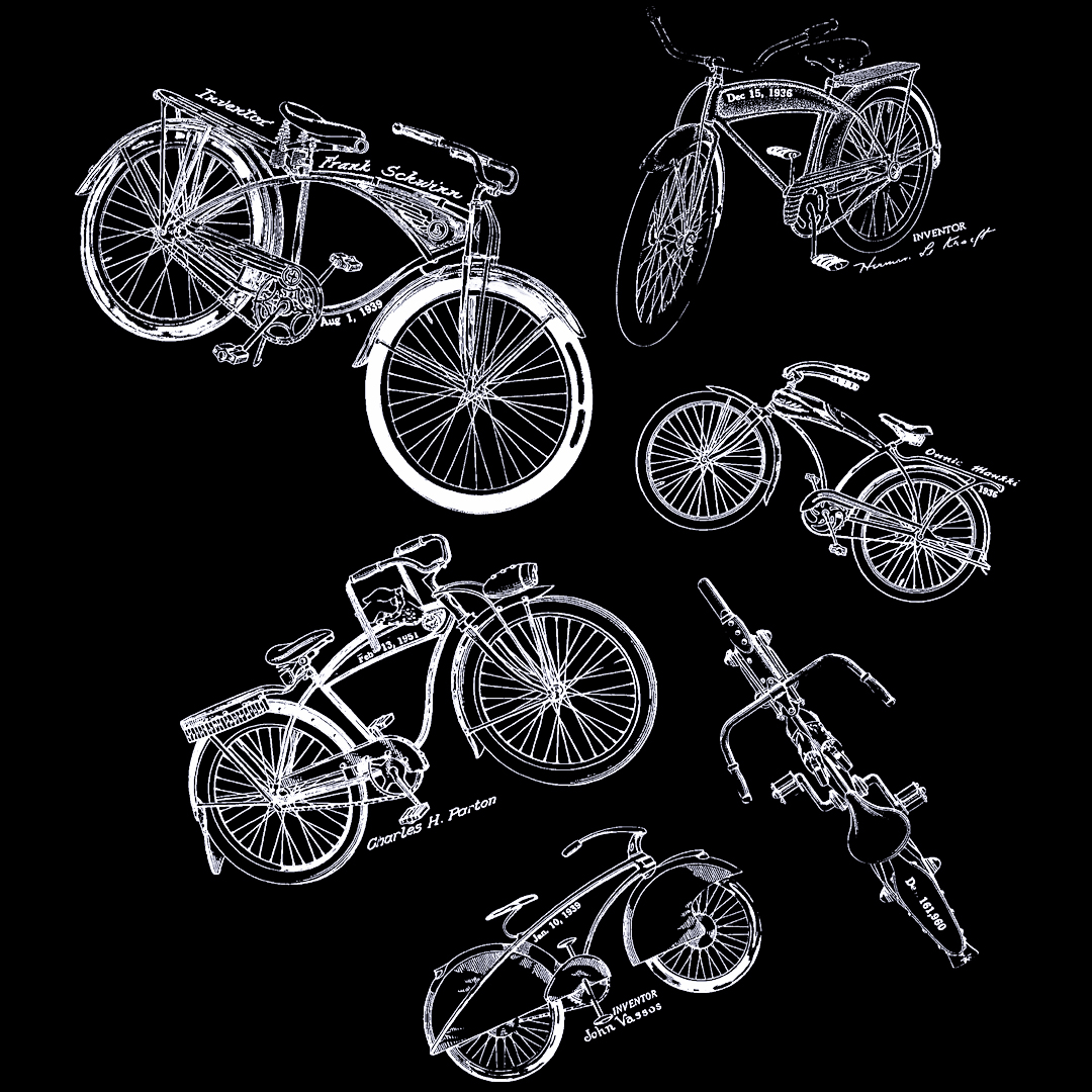 Bicycles MS-Lineart Design on Darks