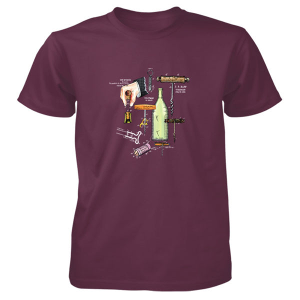 Corkscrew MS-Color T-Shirt MAROON