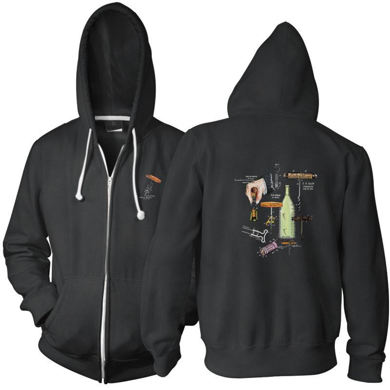Corkscrew MS-Color Zip Hoodie BLACK