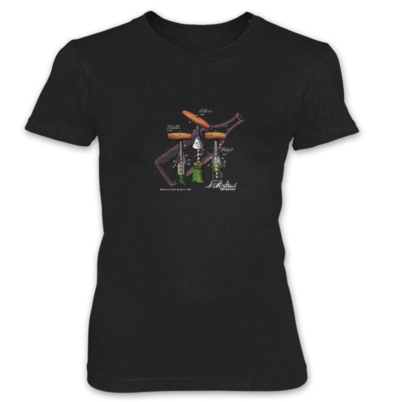 Corkscrew-Strait Women's T-Shirt BLACK