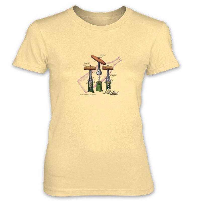 Corkscrew-Strait Women's T-Shirt SPRING YELLOW