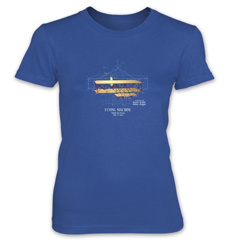 Flying Machine Women's T-Shirt ROYAL BLUE