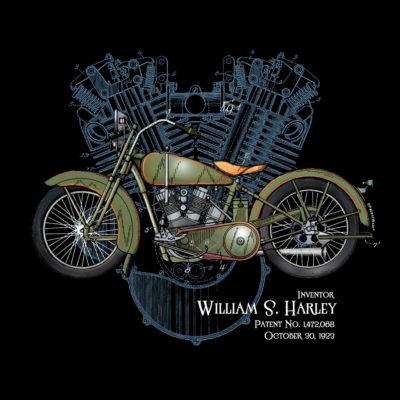 William S. Harley Design on Darks