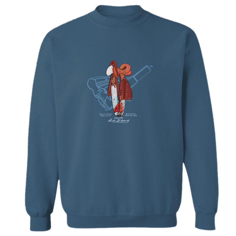 Saddle Crewneck Sweatshirt INDIGO BLUE