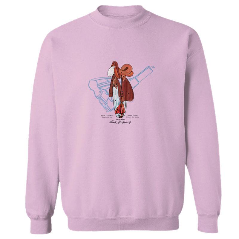 Saddle Crewneck Sweatshirt LIGHT PINK