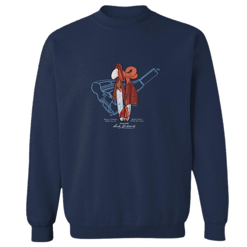 Saddle Crewneck Sweatshirt NAVY