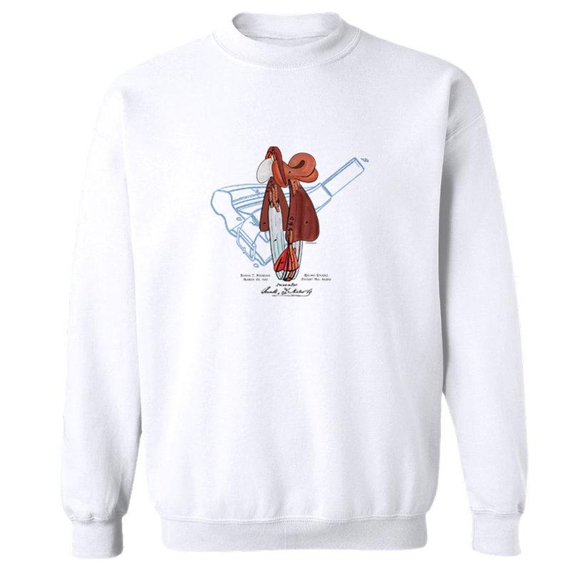 Saddle Crewneck Sweatshirt WHITE