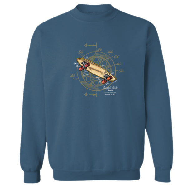 Skateboard-Wheels Crewneck Sweatshirt INDIGO BLUE