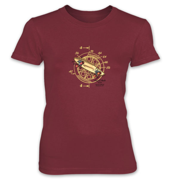 Skateboard-Wheels Women's T-Shirt INDEPENDENCE RED
