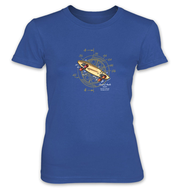 Skateboard-Wheels Women's T-Shirt ROYAL BLUE