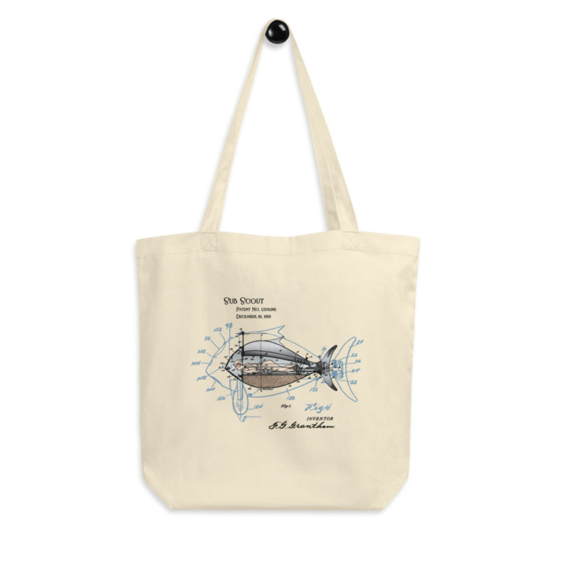 Sub Scout Tote Bag hanging