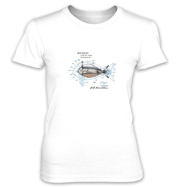 Sub Scout Women's T-Shirt WHITE
