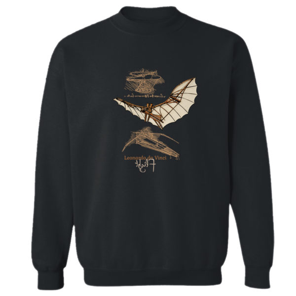 da Vinci Flight Crewneck Sweatshirt BLACK