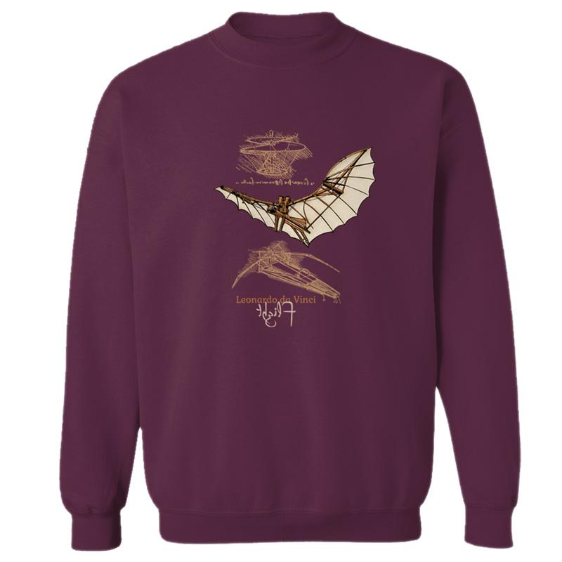 da Vinci Flight Crewneck Sweatshirt MAROON
