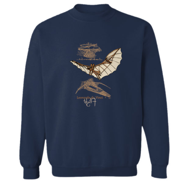 da Vinci Flight Crewneck Sweatshirt NAVY