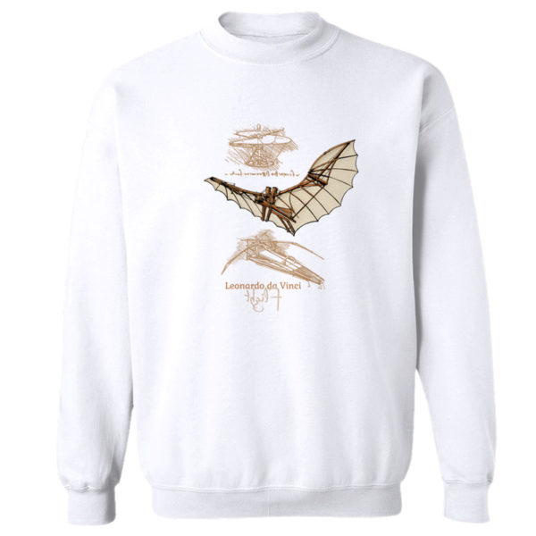 da Vinci Flight Crewneck Sweatshirt WHITE