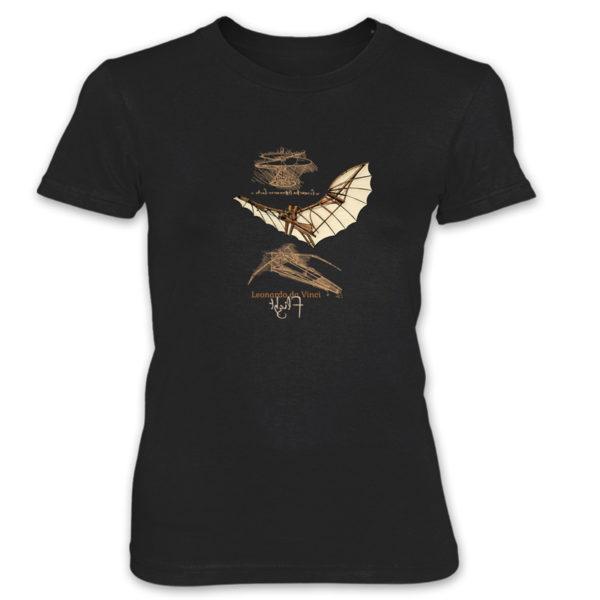 da Vinci Flight Women's T-Shirt BLACK