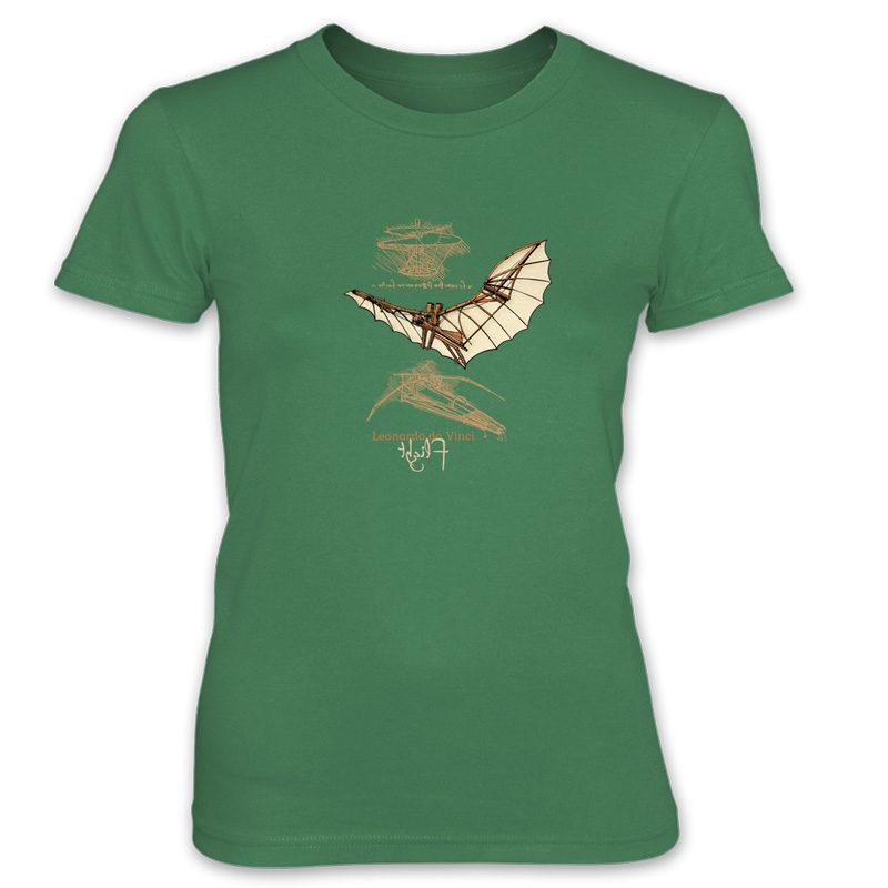da Vinci Flight Women's T-Shirt KELLY GREEN