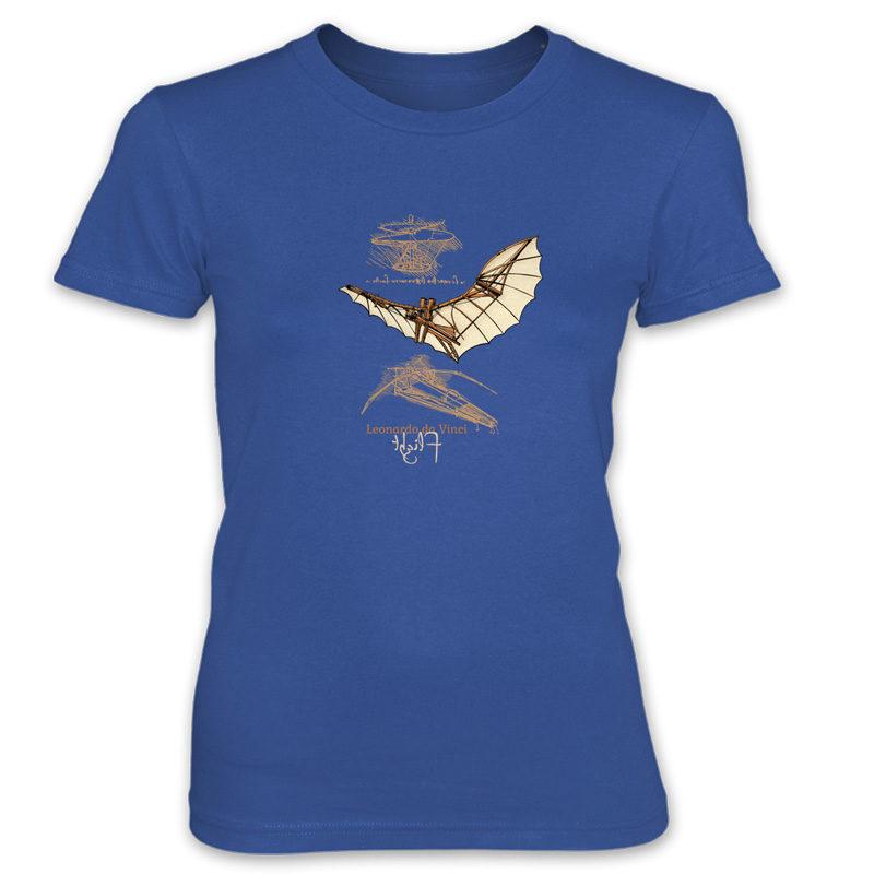 da Vinci Flight Women's T-Shirt ROYAL BLUE