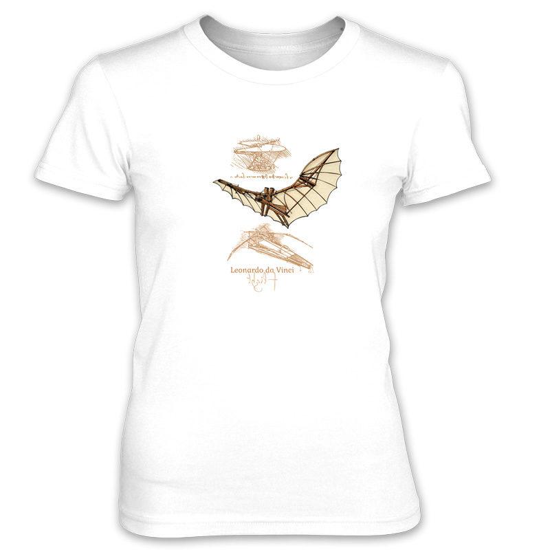 da Vinci Flight Women's T-Shirt WHITE