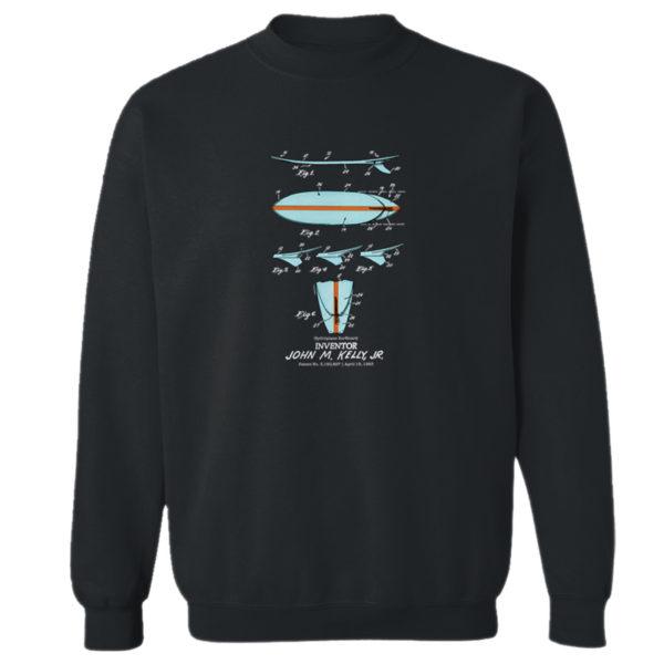 Surfboard-Kelly Crewneck Sweatshirt BLACK