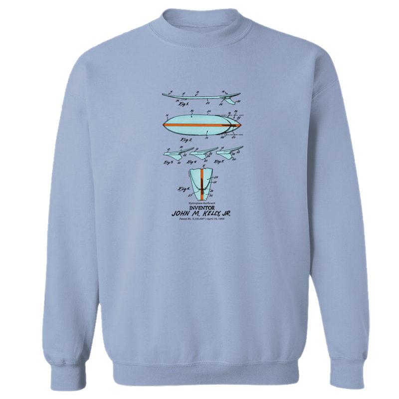 Surfboard-Kelly Crewneck Sweatshirt LIGHT BLUE